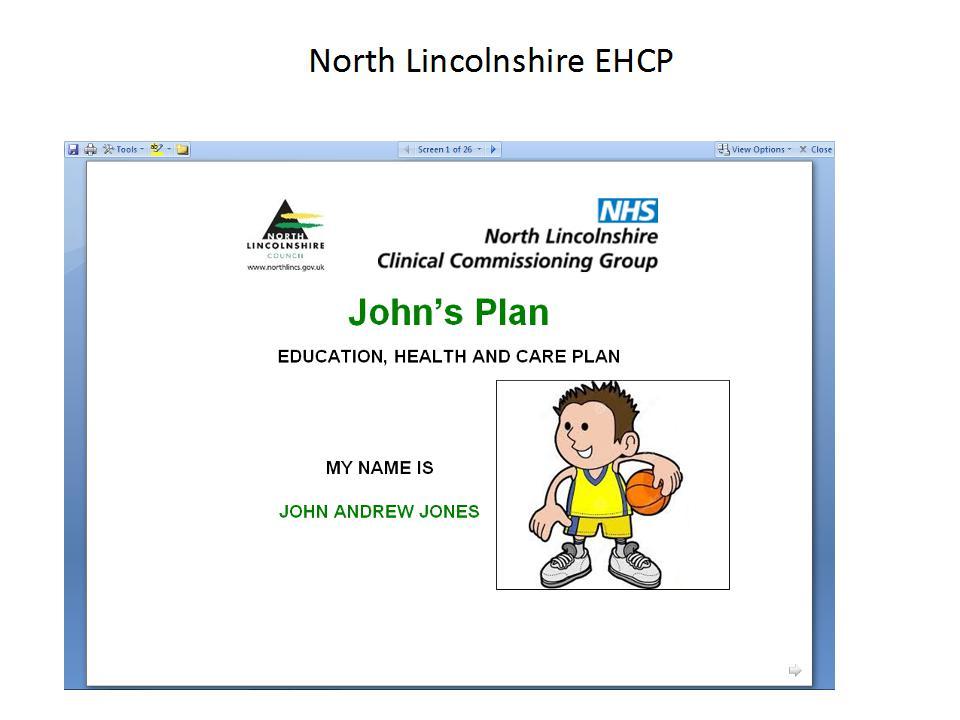 Julie Frost EHC Plans Johns PLan