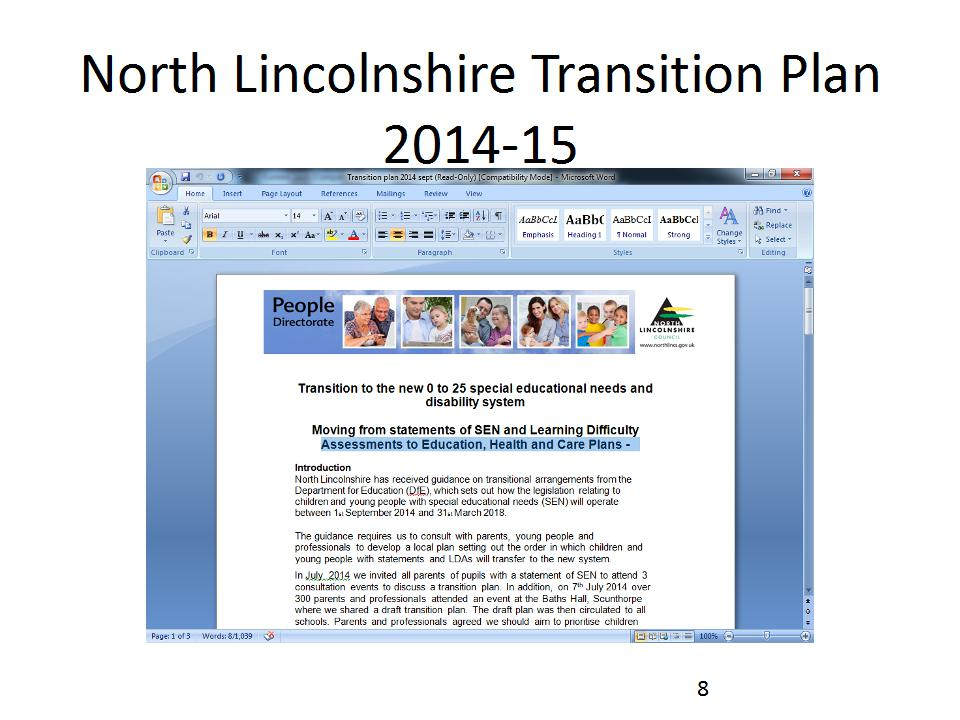 Transition Plan Assesments to Education